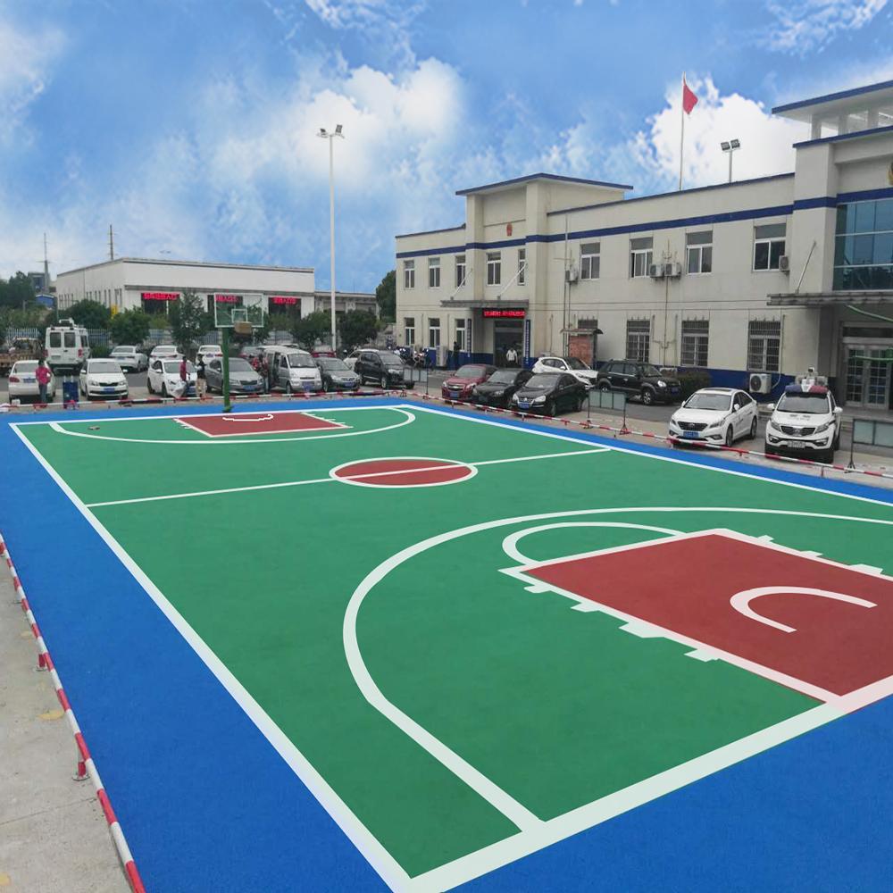 Silicon PU Basketball Court