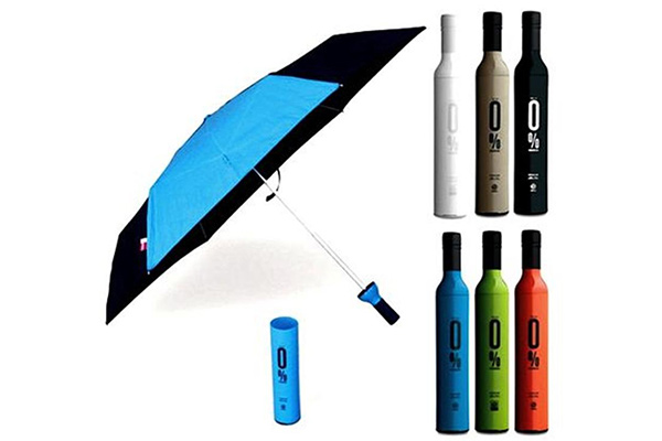 Three Fold Wine Bottle Umbrella