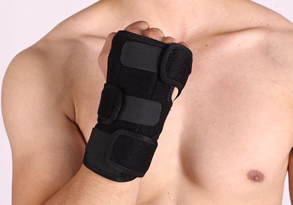 Aluminium plate wrist support
