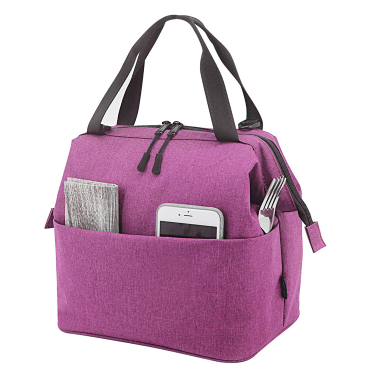 9 Can Lunch Box Cooler Bag Tote Grey Canvas Lightweight Insulated Lunch Bag Cooler with YKK Zipper Featured Image