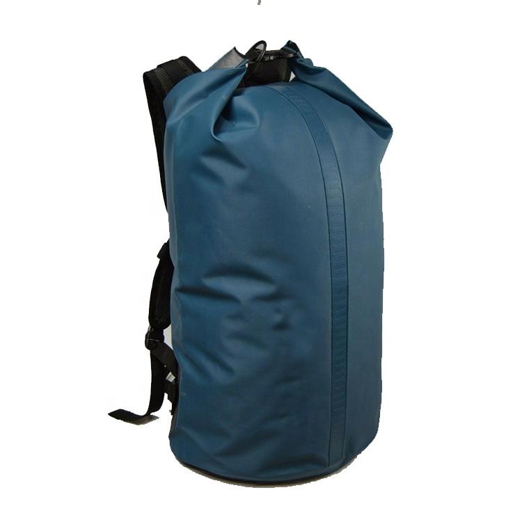 Outdoor PVC Blue Tarpaulin Bag Watertight Dry Bag 35L, Waterproof Dry Bag Backpack Featured Image
