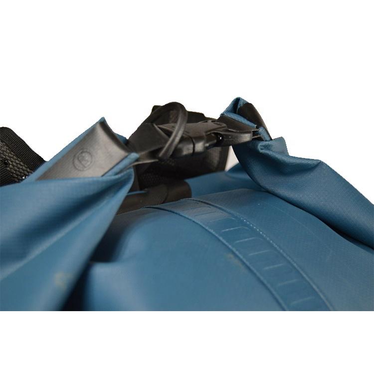 Outdoor PVC Blue Tarpaulin Bag Watertight Dry Bag 35L, Waterproof Dry Bag Backpack