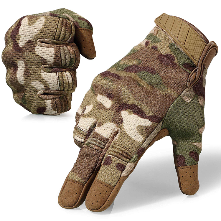 Wholesale Breathable Flexible Touch Screen Rubber Hard Knuckle Full Finger Tactical Gloves For Motorcycle