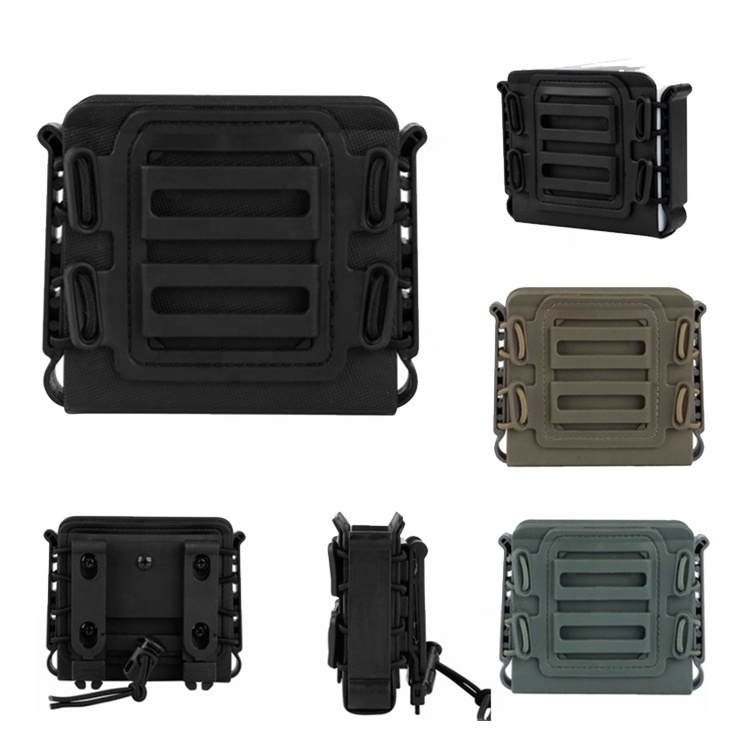 Molle Tactical Airsoft Poly Mag Carrier Mag Glock Rifle Mag Pouch For Hunting Equipment Holder