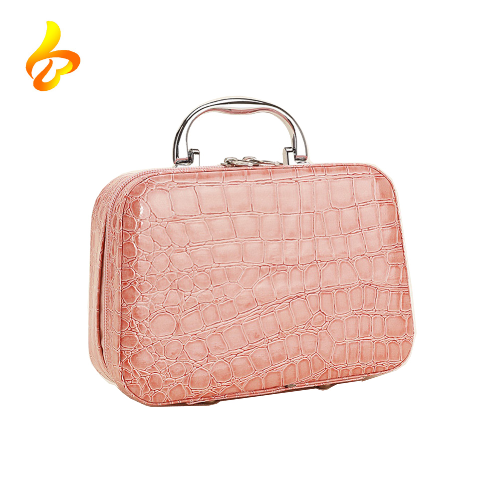 Leather Cosmetic Box Case Storage Bag Portable Ladies Travel Cosmetic Case Featured Image