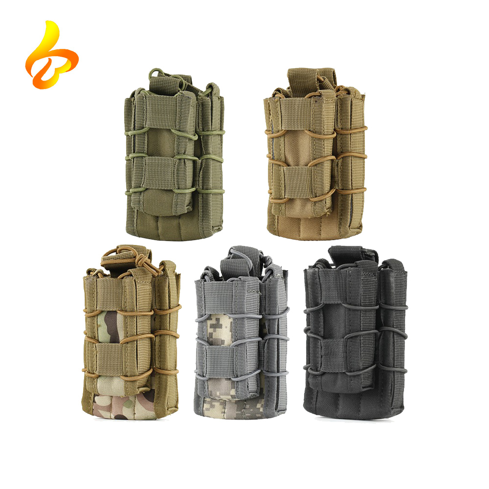 MOLLE Tactical Open Top Double Decker Single Rifle Pistol Mag Pouch Cartridge Clip Pouch 1000D Hunting Bag