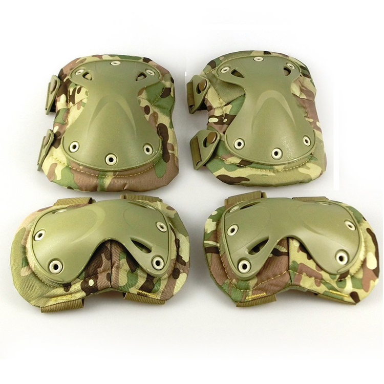 Outdoor Sports Tactical Combat Hunting CS Paintball Game Skate Military Army Tactical Protection Gear Knee Elbow Pads