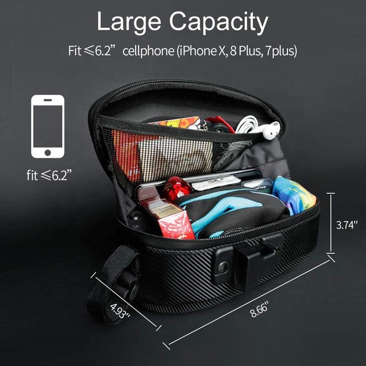 Amazon Hot Sale Water Resistance Bike Riding Saddle Bag EVA 3D Shell Custom Durable Bike Seat Bag