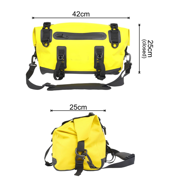 15L Durable Waterproof PVC RF Welded Seams Tail Bicycle Pannier Bag, Custom Bike Bag Waterproof