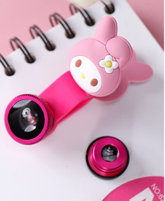 Promotional Gift Cartoon HD Wide Angle Fisheye Lens for All Mobile Phone