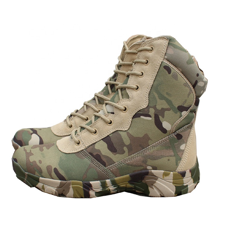 Wholesale Camouflage Color Soft Toe Lightweight Men's Military Tactical Boot For Man Featured Image