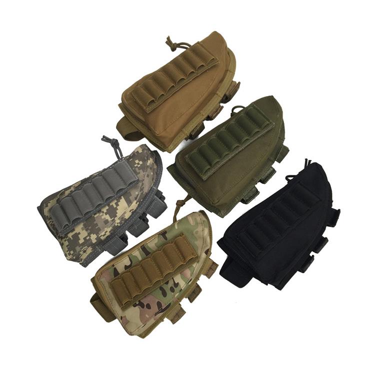 Tactical Rifle Shot Gun Bag Nylon Magazine Butt stock Pouch Holder Tactical Gun Bag Featured Image