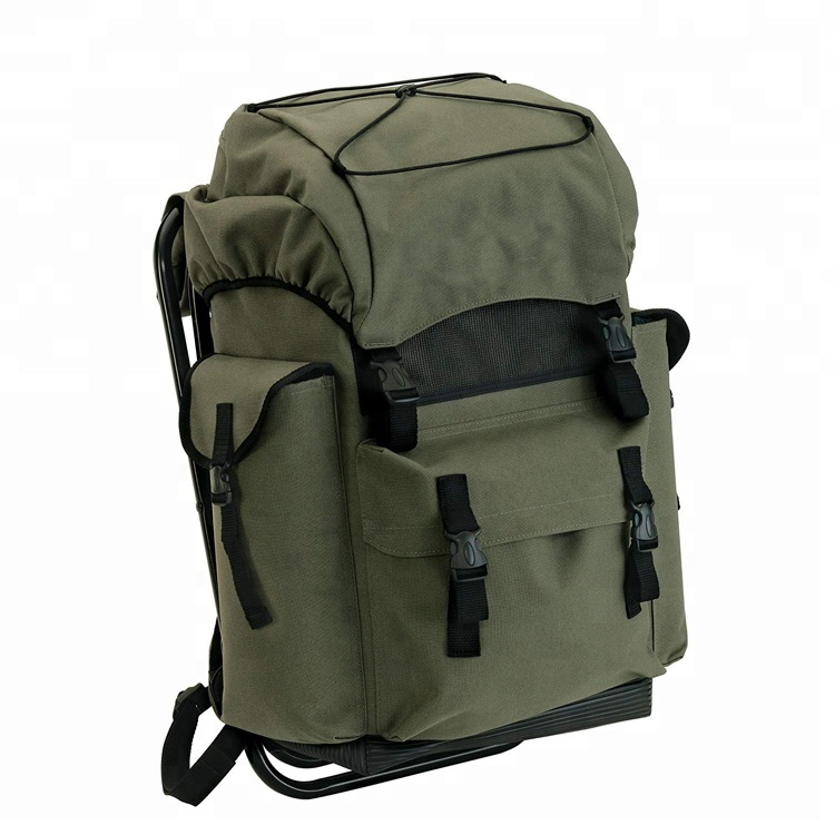 Alibaba Supplier Multi-purpose  600D PVC Outdoor Foldable  Fishing Bag with Stool Featured Image