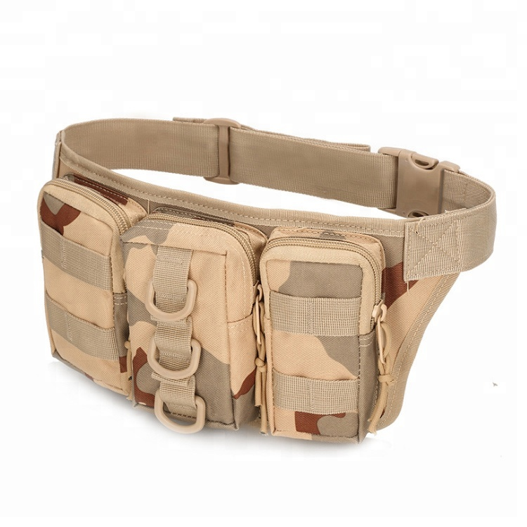 Military Fanny Packs Waterproof Men Hip Belt Bag Pouch for Hunting Camping Trekking
