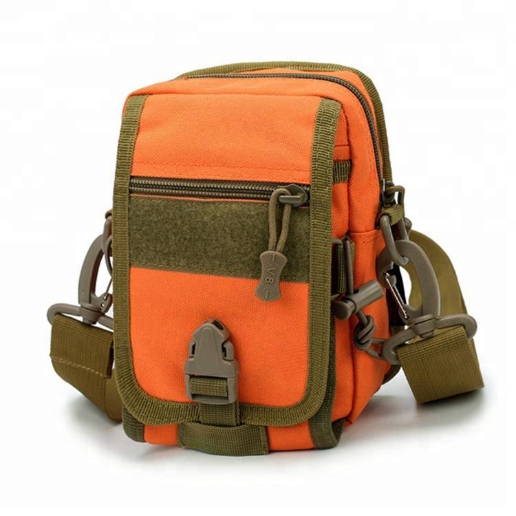 Orange Color Man Shoulder Strap Detachable Utility Military Cordura Small Tactical Pouch Bags