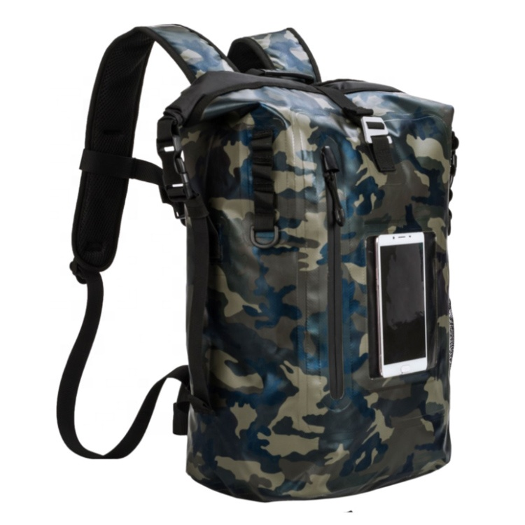 Fashion TPU 600D Coated Tactical Low MOQ Custom Logo Roll Top Closed Waterproof Tactical Backpack Featured Image