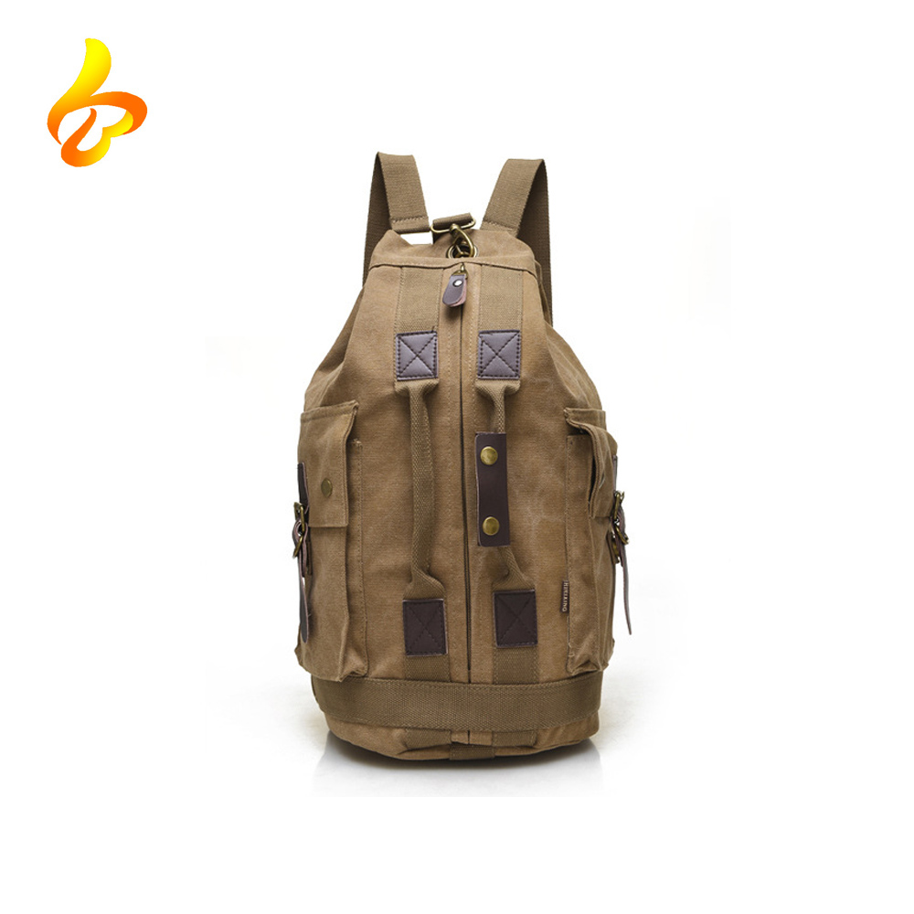 Men's Vintage Canvas Duffel Shoulder Backpack Tote Travel Tote Handle Custom Canvas Duffel Bag