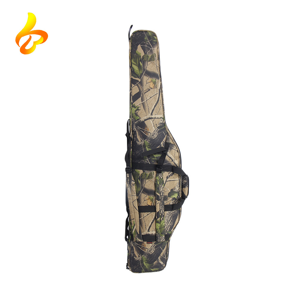 1000D Nylon Cordura Sponge Foam Hunting Shockproof Molle System Camo Tactical Gun Bag