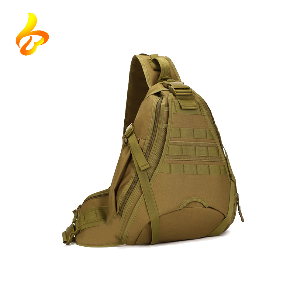 Military Molle Crossbody Sling Day pack Outdoor Tactical Shoulder Bag for Hunting Camping Riding Trekking travelling