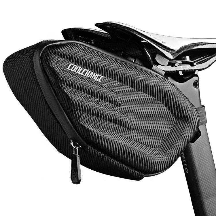 Amazon Hot Sale Water Resistance Bike Riding Saddle Bag EVA 3D Shell Custom Durable Bike Seat Bag Featured Image