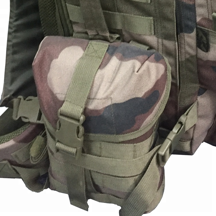 Outdoor Camouflage Military Equipment Side Pouch 1000D 60L Army Bag 3P Tactical Backpack