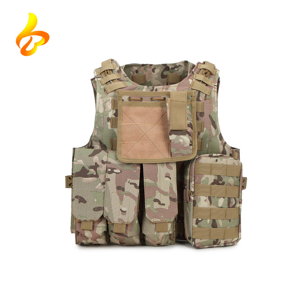 Outdoor MOLLE 1000D Nylon Breathable Combat Training Adults Military Combat Vest