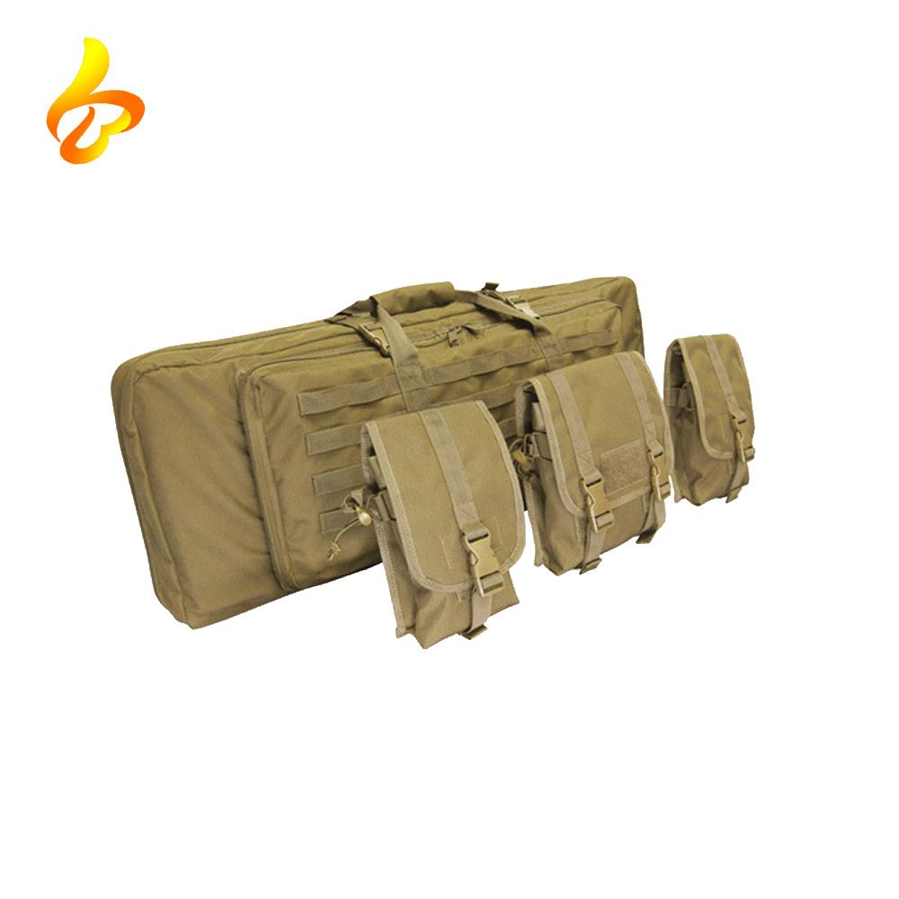 Wholesale 1000D Nylon Portable Double Rifle Gun Tactical Drag Bag Padded Shockproof Gun Bag For Hunting