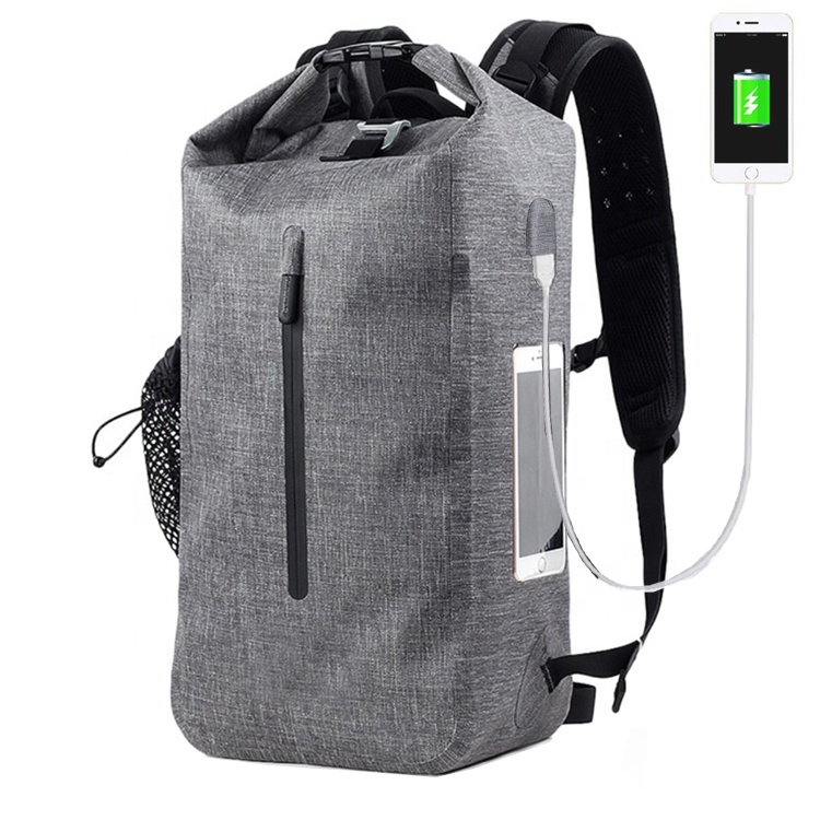 Clear Pvc Side Layer Padded Computer Compartment  Anti Theft  Roll Top 30L TPU Backpack With USB Charging For Laptop Featured Image