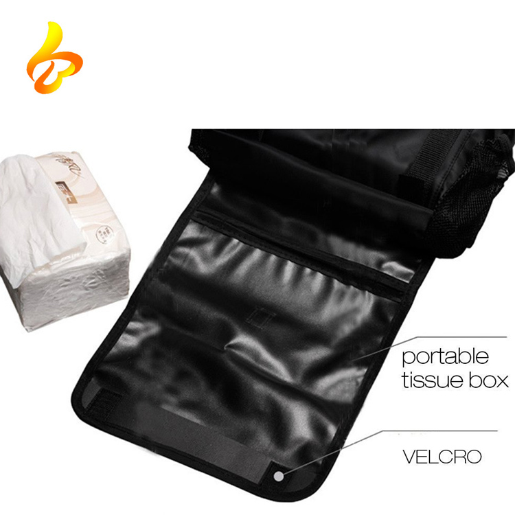 Multi-Pocket Travelling Insulated Car Seat Back Drinks Holder Cooler Car Organizer Bag
