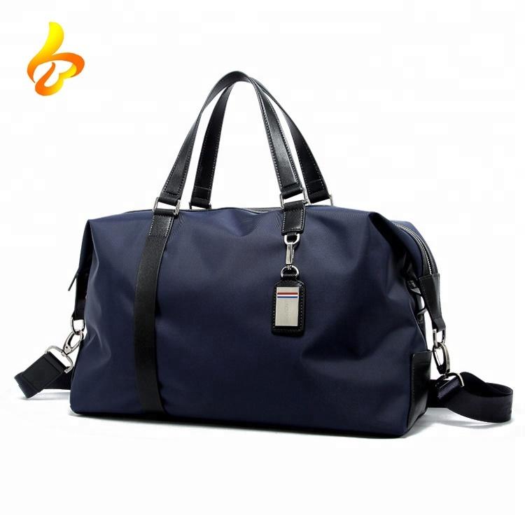 Travelling Garment Duffel Bag Fashional Tote Handle Mens Leather Duffel Bag