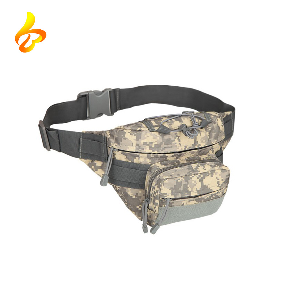 Military Fanny Pack Tactical Waist Bag Pack Water-resistant Hip Belt Bag Pouch for Hiking Climbing