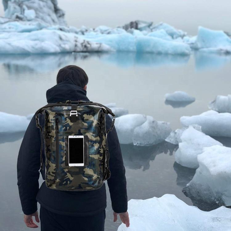 Fashion TPU 600D Coated Tactical Low MOQ Custom Logo Roll Top Closed Waterproof Tactical Backpack