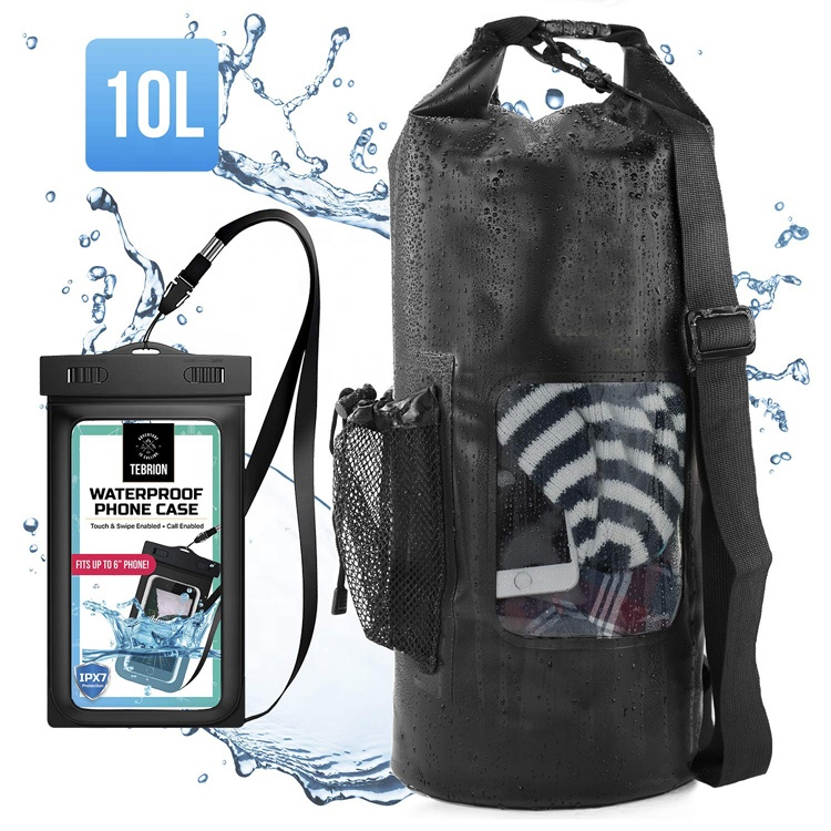 Expand Capacity Waterproof Phone Case Top Dry Sack 10l Keep Gear Dry Perfect For Kayaking Rafting Boating Featured Image