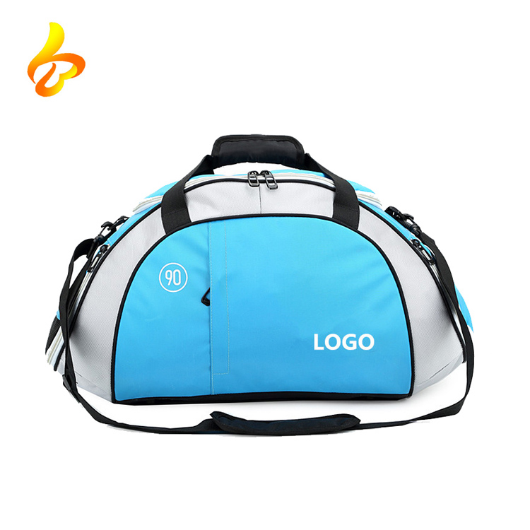 China Manufacturer Wholesale Polyester Custom Men Sports Gym Bag With Shoes Compartment