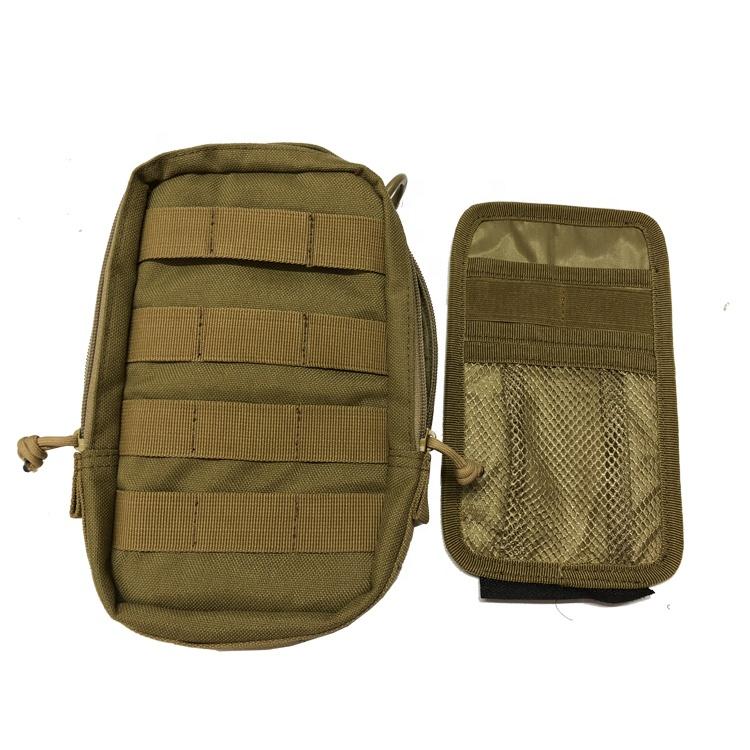 Cordura Khaki Color YKK Zipper Small Utility Military Small Pouch Admin Pouch, Tactical Pouch