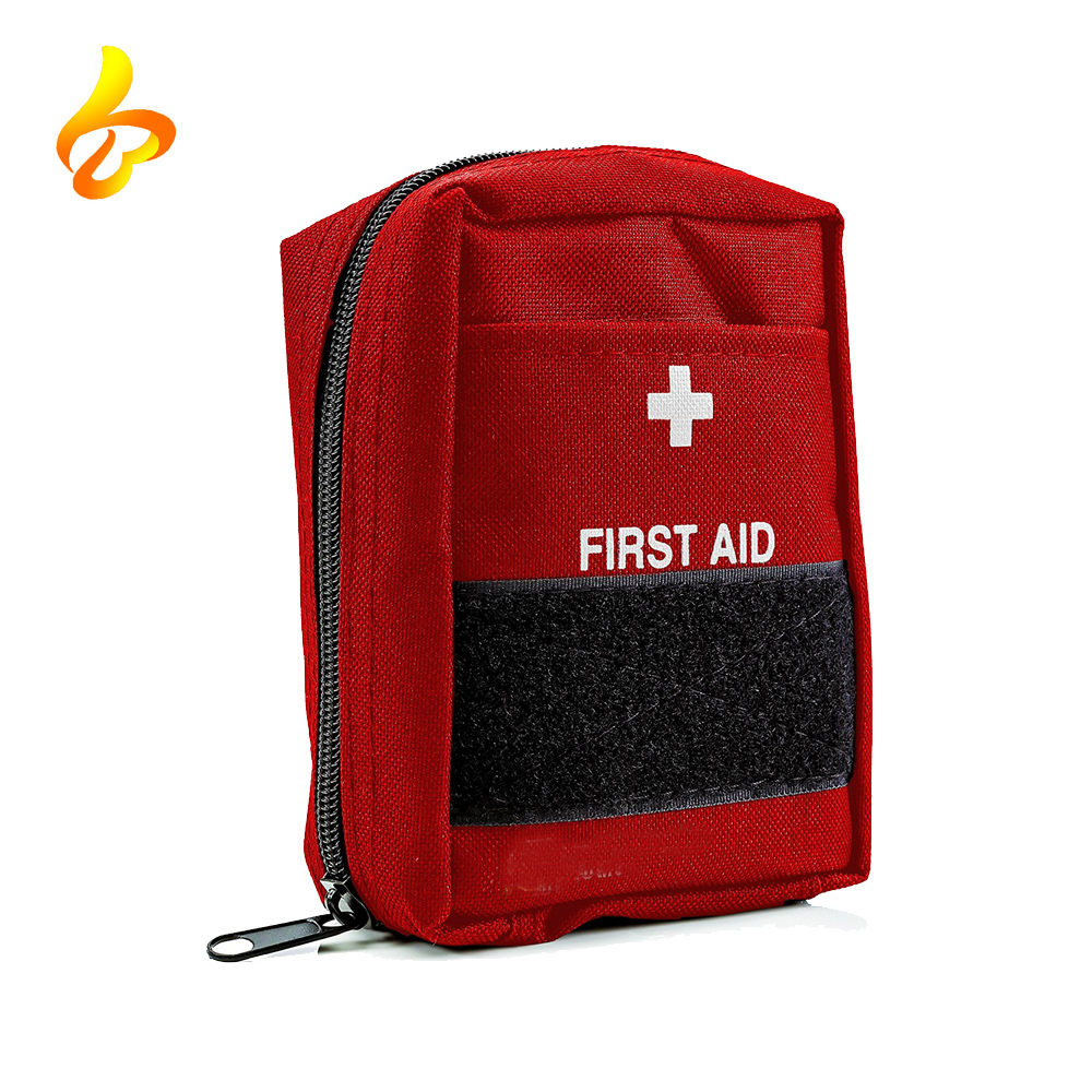 Outdoor Travelling Camping Red Pouch Emergency Utility Nylon Tactical First Aid Kits