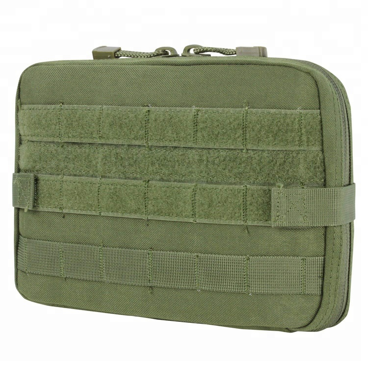 China Supplier 1000D Nylon Army Green Belt Clip Utility Military Waterproof Molle Pouch, Medic Molle Pouch