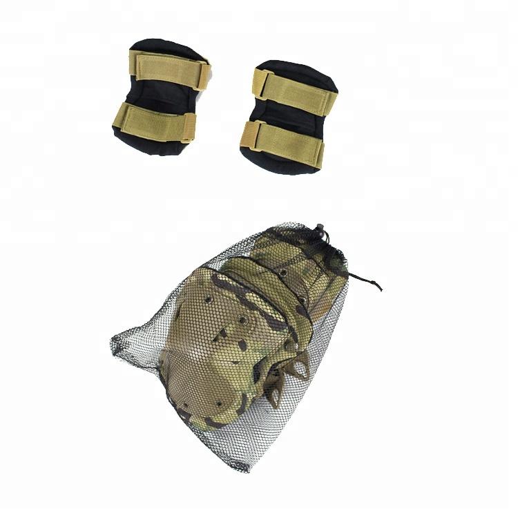 Wholesale Black Cordura Nylon Fabric AltaGrip Fastening Flexible Cap Motorcycle knee protector