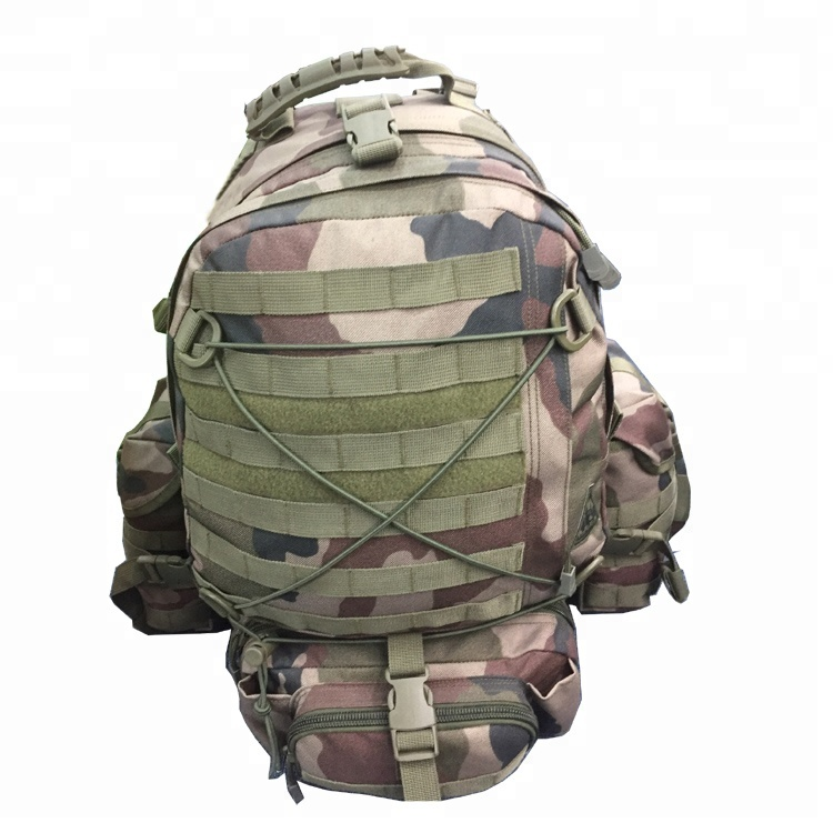 Outdoor Camouflage Military Equipment Side Pouch 1000D 60L Army Bag 3P Tactical Backpack Featured Image