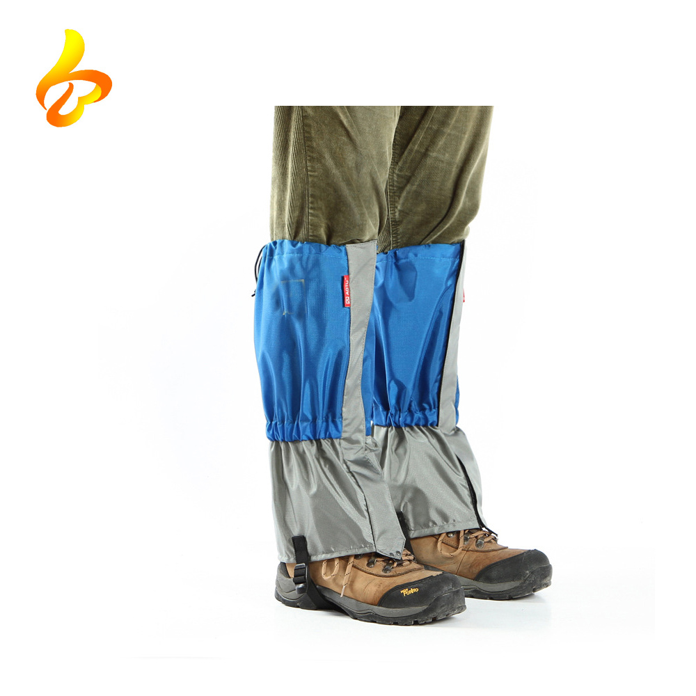 Camping Mountain Climbing Leg Gaiters, Protective Polyester Leg and Foot Wammers Ski Boots Cover