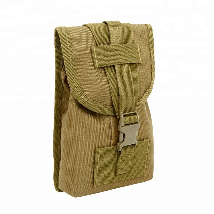 """Universal Nylon Tactical Pouch 6"""" Smartphone Holster Molle Military Waist Pack, Waist Belt Pouch Featured Image"""