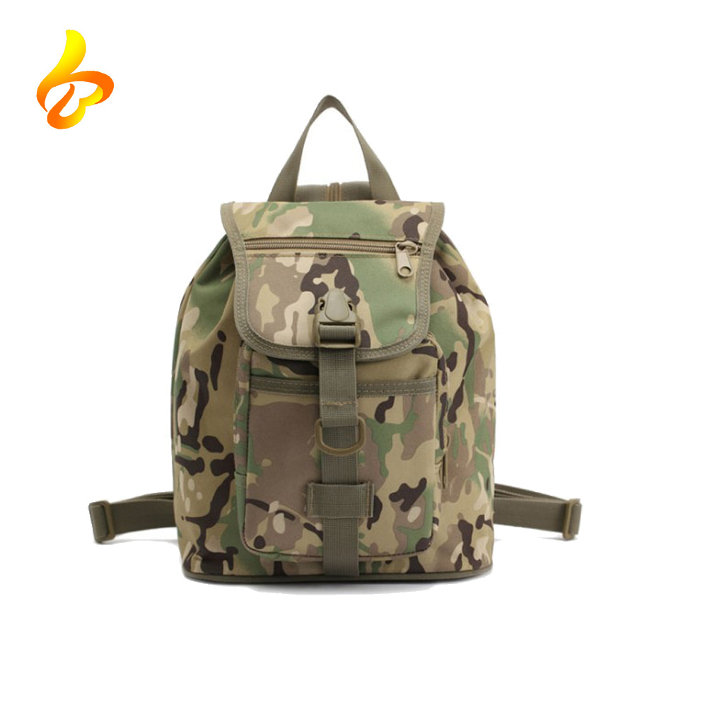 Walking Molle Shoulder Small Water Resistance 600D PVC Day Pack Outdoor Travel pouch