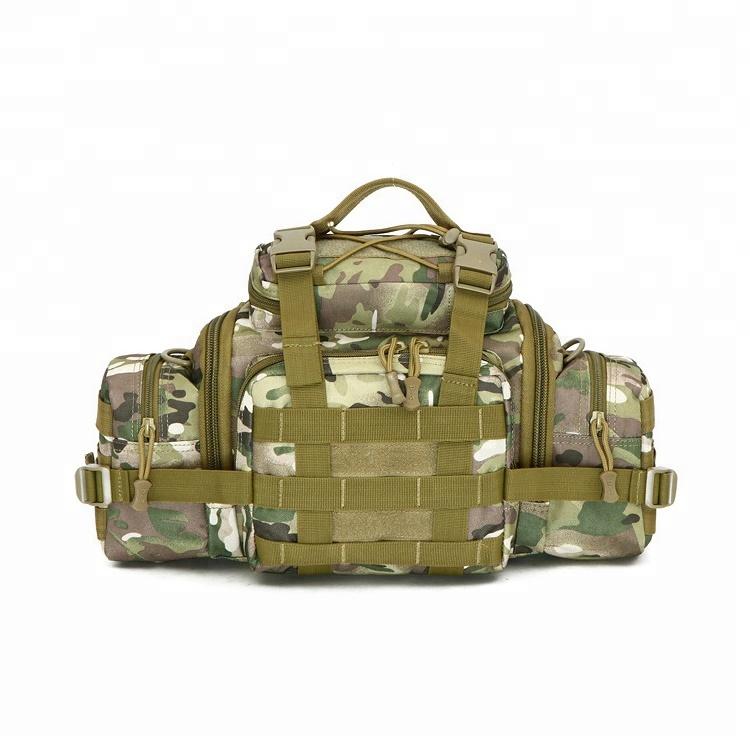 Outdoor Travelling  Nylon Tactical Assault Gear Sling Pack Molle Modular Men Waist Bag Featured Image