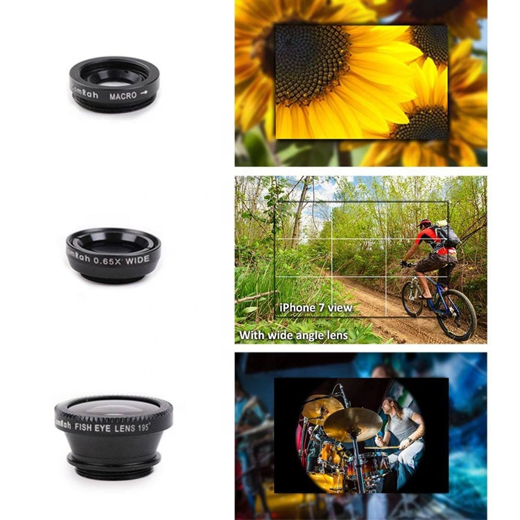 Cell Phone Octopus Tripod Fisheye Wide Angle and Macro Lenses 3 Universal Lens For iphone samsung