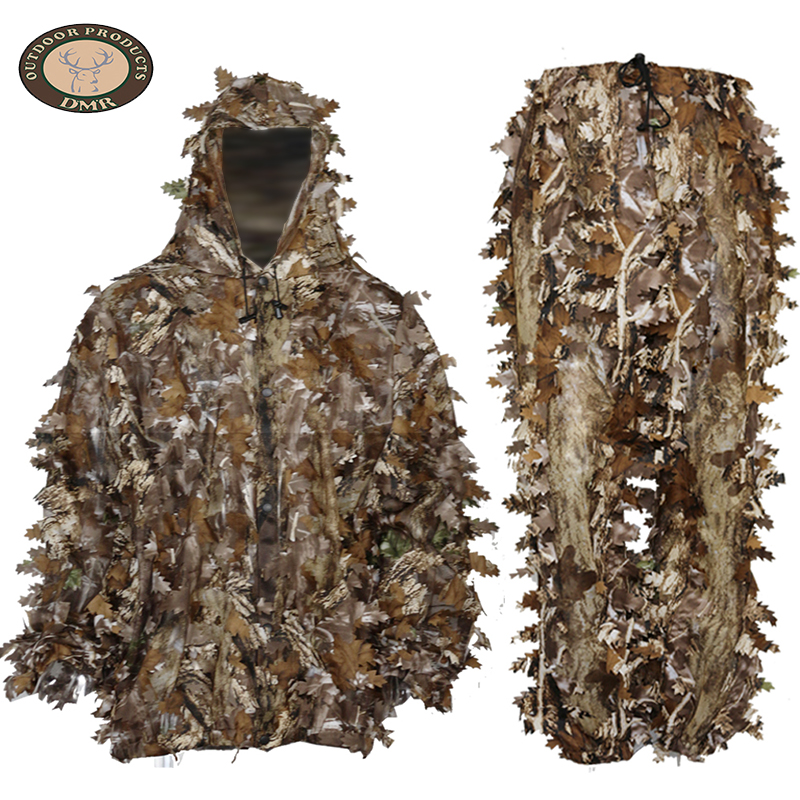 Wood fabric forest 3D leaf hunting camouflage suit LS017
