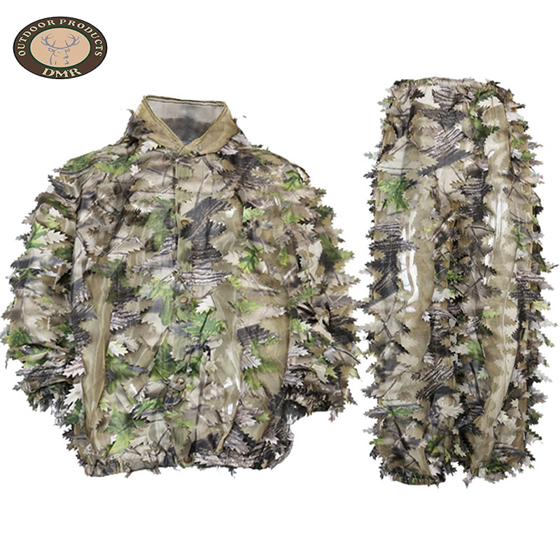 Green forest net 3D leaf hunting camouflage suit LS034 Featured Image