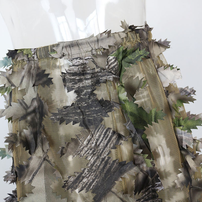 Green forest net 3D leaf hunting camouflage suit LS034