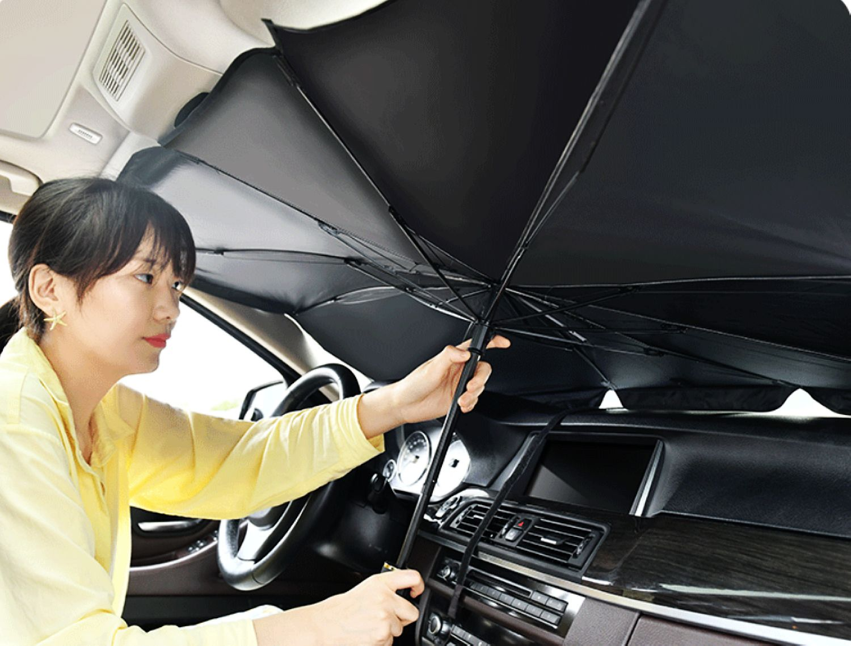 Car front glass fold umbrella