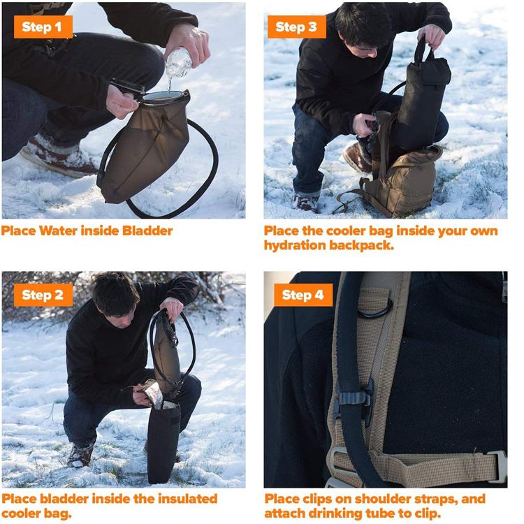 Portable Hydration Cooler Bag For 2l 3l bladder
