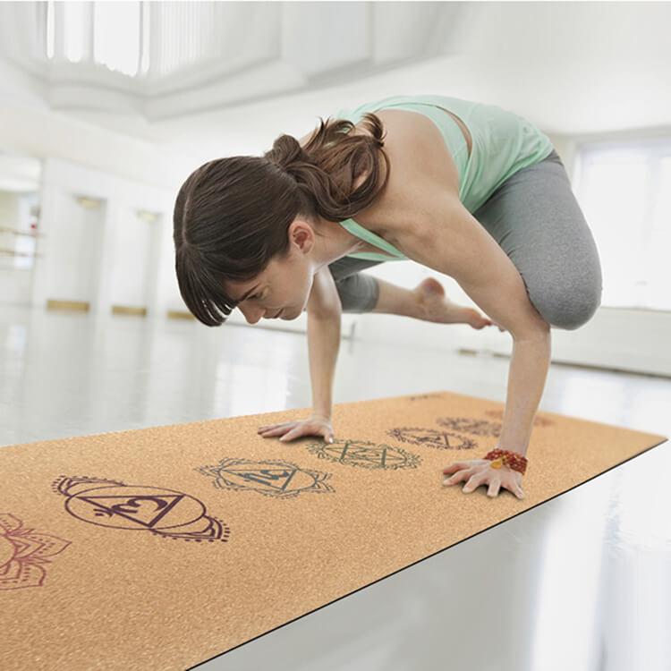Anti slip Yoga Cork Mat yoga mat made from 100% natural materials Featured Image